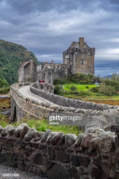 Eilean Donan Castle in Loch Duich Ross and Cromarty Western Highlands of Scotland UK