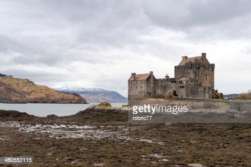 Eilean Donan Castle on a winter day : Stock Photo