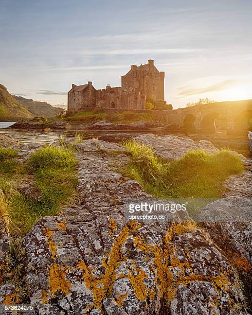 Eilean Donan Castle, Scotland at sunset