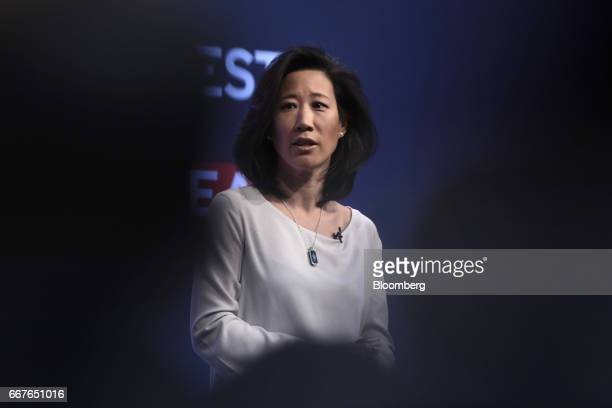 Eileen Burbidge UK government's special envoy for fintech speaks during the International Fintech Conference in London UK on Wednesday April 12 2017...