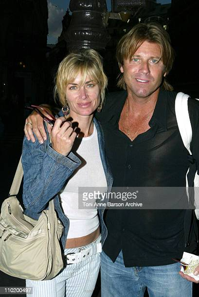 Eileen Davidson and Family during Eileen Davidson and Family Sightings In Paris July 8 2004 at Streets of Paris in Paris France