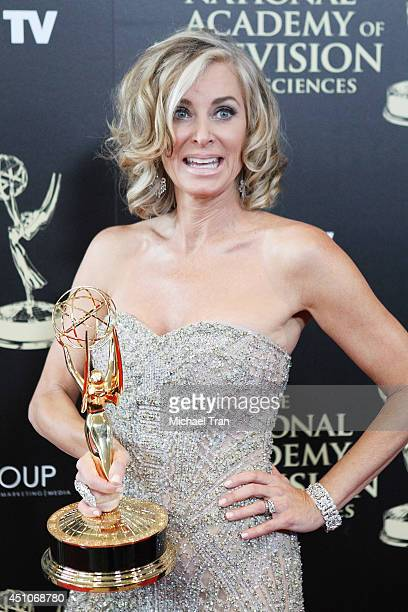 Eileen Davidson attends the 41st Annual Daytime Emmy Awards press room held at The Beverly Hilton Hotel on June 22 2014 in Beverly Hills California