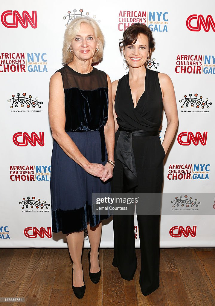 Eileen Guggenheim and actress Carla Guigino attends the 4th Annual African Children's Choir Fundraising Gala at City Winery on December 3, 2012 in New York City.