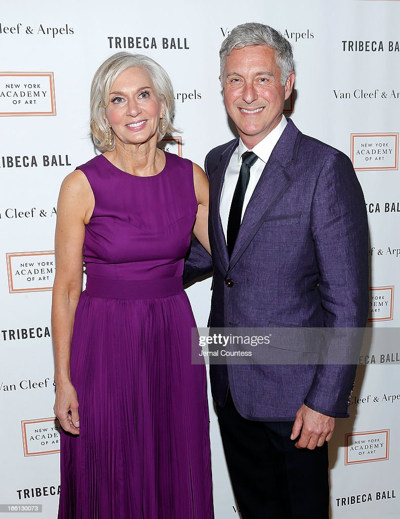 Eileen Guggenheim and artist David Kratz attend the 2013 Tribeca Ball at New York Academy of Art on April 8, 2013 in New York City.
