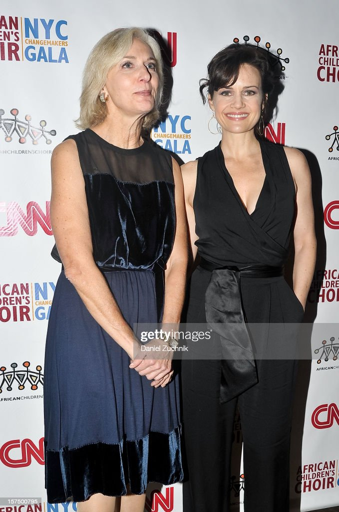 Eileen Guggenheim and <a gi-track='captionPersonalityLinkClicked' href=/galleries/search?phrase=Carla+Gugino&family=editorial&specificpeople=207137 ng-click='$event.stopPropagation()'>Carla Gugino</a> attends the 4th annual African Children's Choir Fundraising Gala at City Winery on December 3, 2012 in New York City.