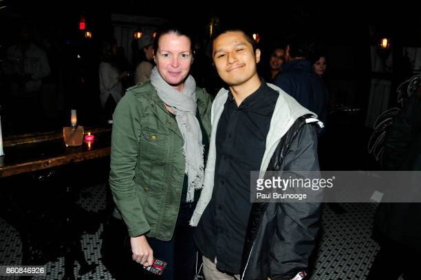 Eileen Kinsella and Rain Embuscado attend Espolòn Tequila Hosts Celebration in Partnership with Ai Weiwei Exodus Exhibit at Hotel Chantelle on...