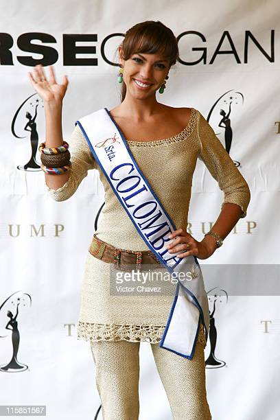 Eileen Roca Miss Universe Colombia 2007 during Miss Universe 2007 Contestants Arrive in Mexico City Day 2 at Hotel Camino Real in Mexico Mexico City...