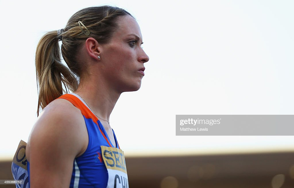 <a gi-track='captionPersonalityLinkClicked' href=/galleries/search?phrase=Eilidh+Child&family=editorial&specificpeople=6146746 ng-click='$event.stopPropagation()'>Eilidh Child</a> of Europe looks on during day one of the IAAF Continental Cup at the Stade de Marrakech on September 13, 2014 in Marrakech, Morocco.