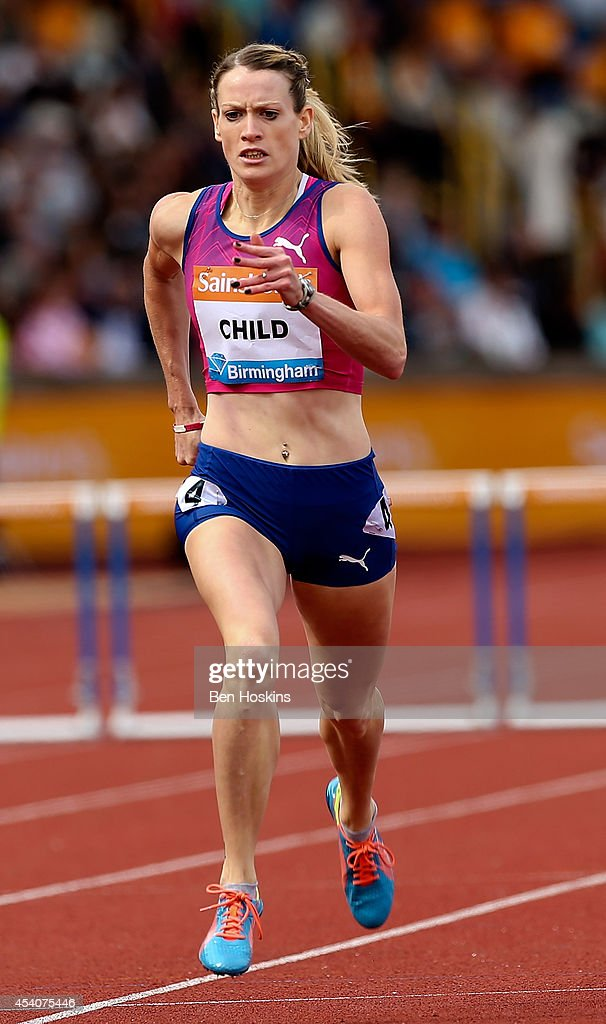 <a gi-track='captionPersonalityLinkClicked' href=/galleries/search?phrase=Eilidh+Child&family=editorial&specificpeople=6146746 ng-click='$event.stopPropagation()'>Eilidh Child</a> of Great Britain in action in the Women's 400m Hurdles during the Diamond League at Alexander Stadium on August 24, 2014 in Birmingham, England.