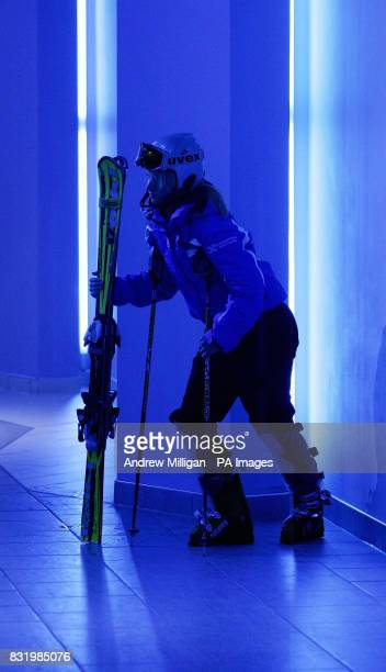 Eilidh McLeod a member of the Scottish Alpine Ski team at the Xscape Entertainment and Leisure Centre in Glasgow