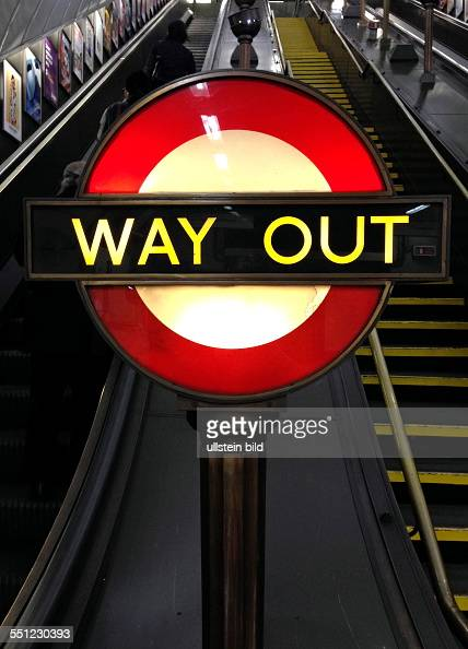 london subway way out pictures getty images. Black Bedroom Furniture Sets. Home Design Ideas