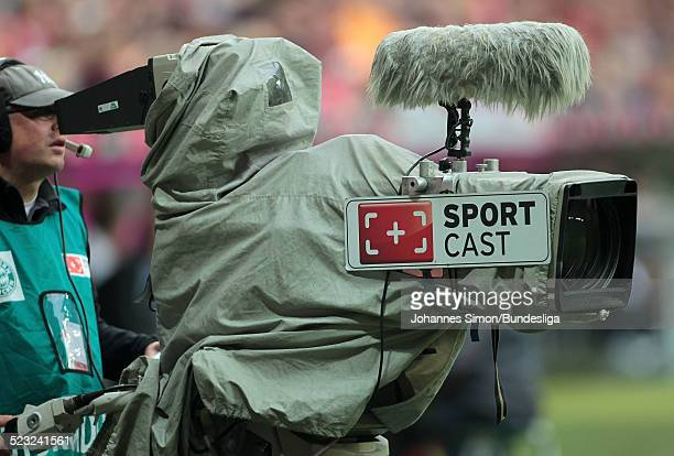 Eine SPORTCASTTVKamera gesehen nach dem Bundesliga Spiel zwischen dem FC Bayern Muenchen und Borussia Moenchengladbach am in der Muenchner...