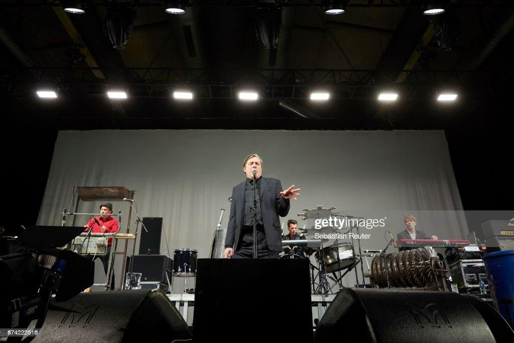 Einstuerzende Neubauten perform at Columbiahalle on November 14, 2017 in Berlin, Germany.