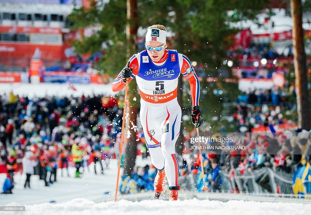 <a gi-track='captionPersonalityLinkClicked' href=/galleries/search?phrase=Eirik+Brandsdal&family=editorial&specificpeople=6567373 ng-click='$event.stopPropagation()'>Eirik Brandsdal</a> of Norway competes during the Men 1,4 km Sprint Classic qualification race of the FIS Nordic World Ski Championships in Falun, Sweden, on February 19, 2015. NACKSTRAND