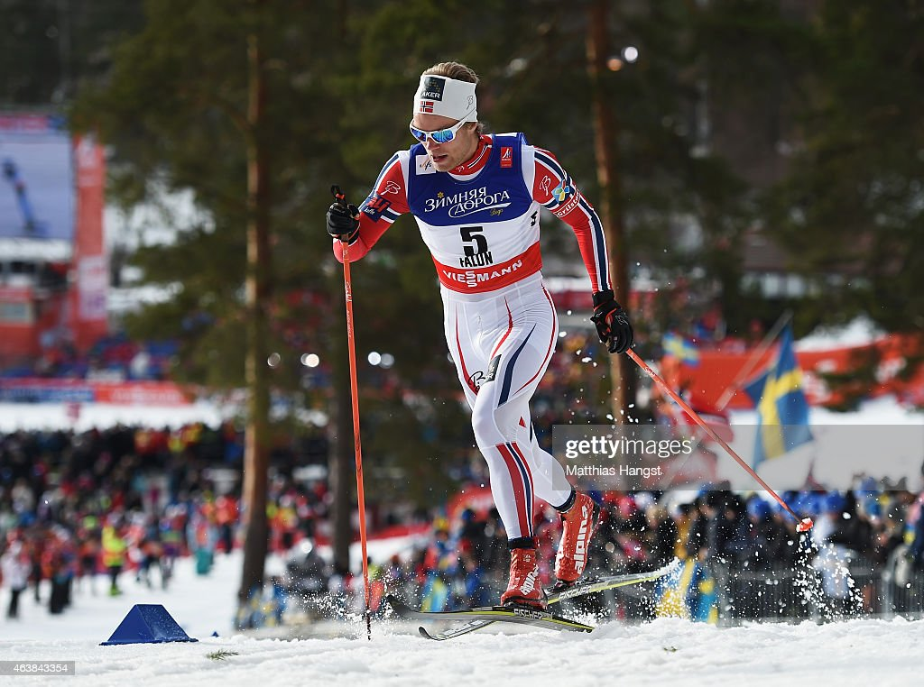 <a gi-track='captionPersonalityLinkClicked' href=/galleries/search?phrase=Eirik+Brandsdal&family=editorial&specificpeople=6567373 ng-click='$event.stopPropagation()'>Eirik Brandsdal</a> of Norway competes during the Men's Cross-Country Sprint Qualification during the FIS Nordic World Ski Championships at the Lugnet venue on February 19, 2015 in Falun, Sweden.