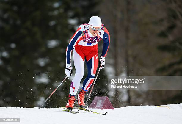 Eirik Brandsdal of Norway competes in Qualification of the Men's Sprint Free during day four of the Sochi 2014 Winter Olympics at Laura Crosscountry...