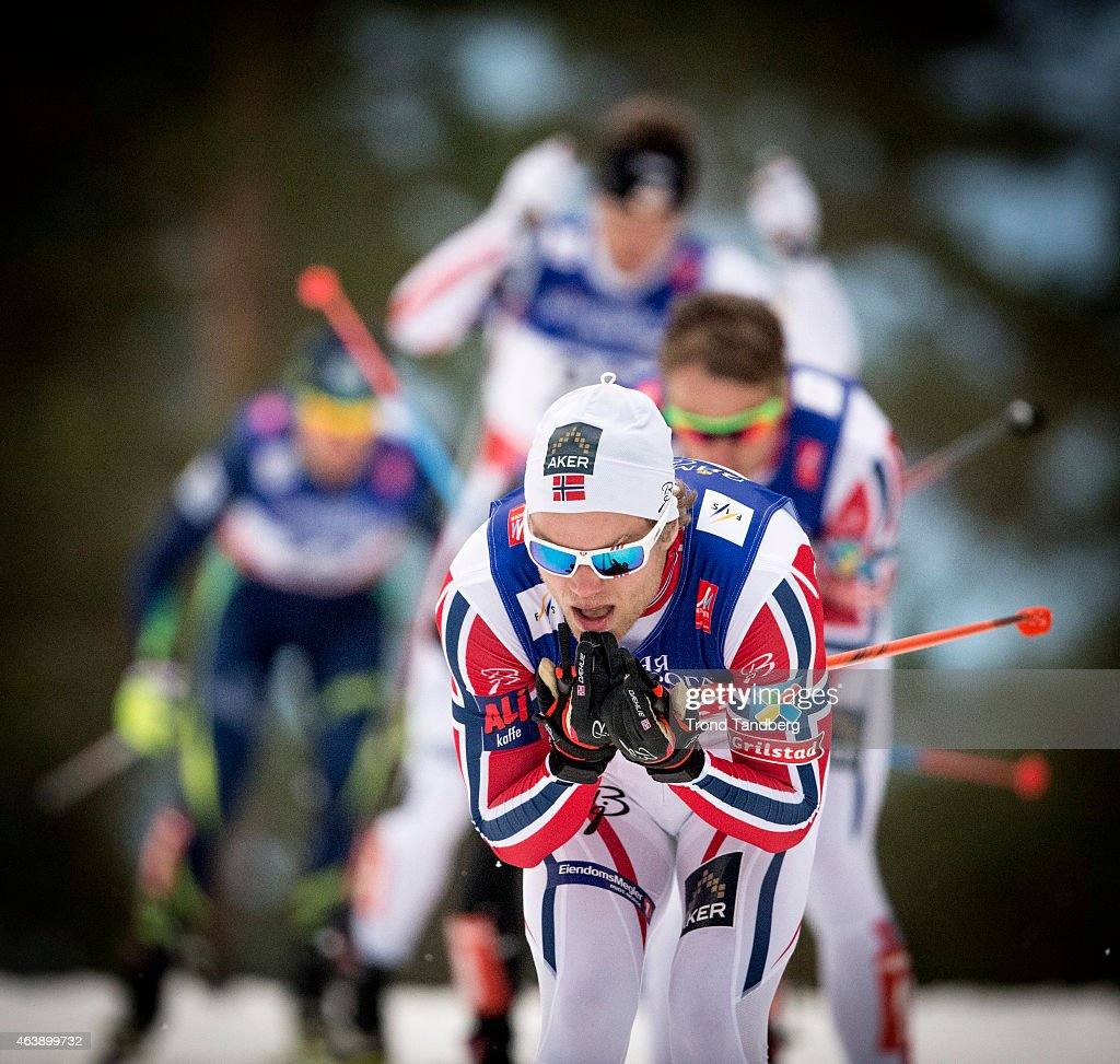 <a gi-track='captionPersonalityLinkClicked' href=/galleries/search?phrase=Eirik+Brandsdal&family=editorial&specificpeople=6567373 ng-click='$event.stopPropagation()'>Eirik Brandsdal</a> of Norway competes in the Mens 1,4 km Sprint Classic Finals during the World Championship Cross Country on February 19, 2015 in Falun, Sweden.