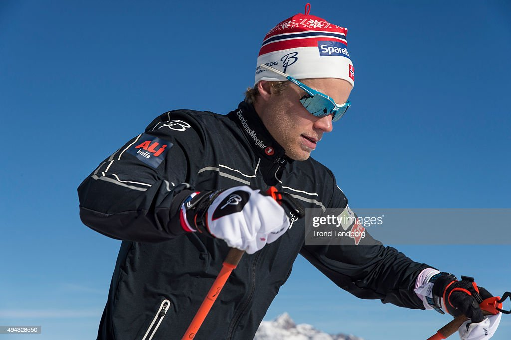 <a gi-track='captionPersonalityLinkClicked' href=/galleries/search?phrase=Eirik+Brandsdal&family=editorial&specificpeople=6567373 ng-click='$event.stopPropagation()'>Eirik Brandsdal</a> of Norway during a training session on the glacier in Maso Corto Val Senales, on October 26, 2015 in Val Senales, Italy.