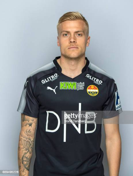 Eirik Ulland Andersen of Team Stromsgodset Fotballklubb during Photocall on March 17 2017 in Drammen Norway