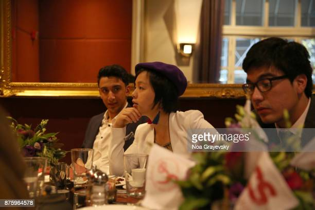Eisa Alhabib Ewing Luo and Roberto Pino Almeyda attend the JCSI Young Creatives Award Ceremony Luncheon at Sofitel Hotel on November 18 2017 in New...