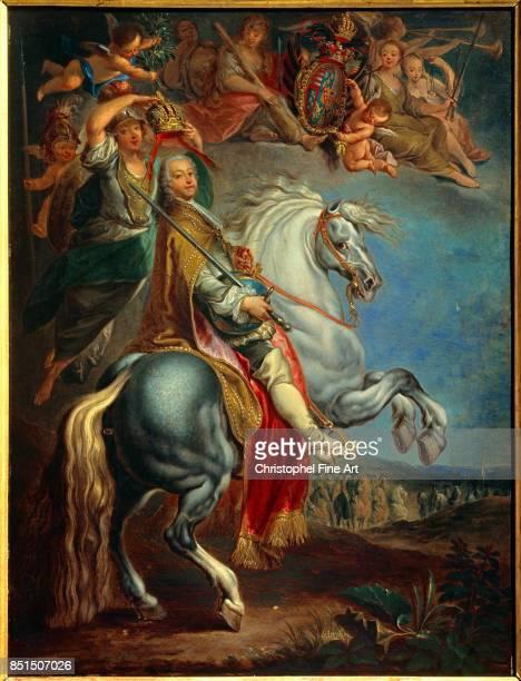 Eisen Francois Equestrian Portrait of Francis III Duke of Lorraine Husband of Maria Theresa of Austria 1757 Nancy Musee Historique Lorrain