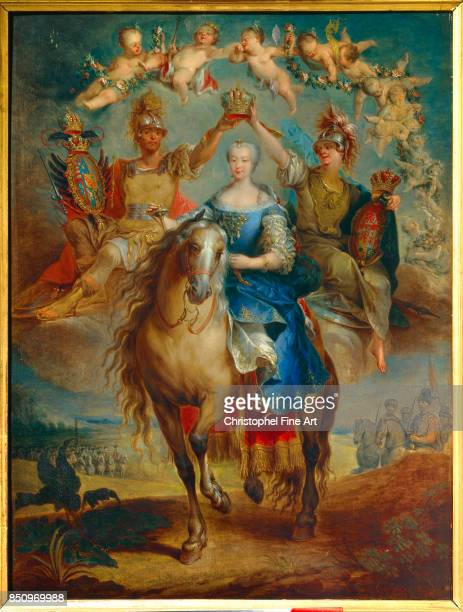 Eisen Francois Equestrian Portrait of Maria Theresa of Austria 1757 Nancy Musee Historique Lorrain