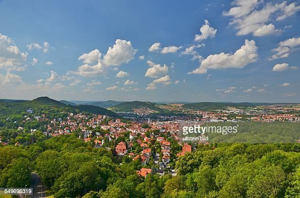Eisenach Blick von der Goepelskuppe auf die Stadt
