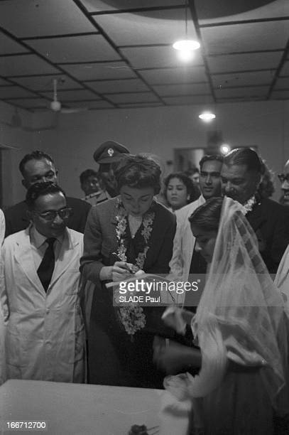 Eisenhower In Pakistan En 1959 lors d'un voyage officiel de Dwight David EISENHOWER du président des EtatsUnis au Pakistan Son épouse La belle fille...