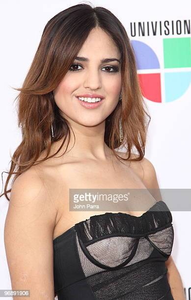 Eiza Gonzalez arrives at recording of 'Somos El Mundo' 'We Are The World' by Latin recording artits at American Airlines Arena on February 19 2010 in...