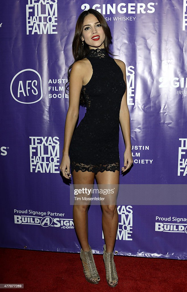 Eiza Gonzalez arrives at the 2014 Texas Film Awards presented by the Austin Film Society at Austin Studios on March 6 2014 in Austin Texas