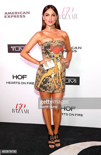 Eiza Gonzalez attends Harper's BAZAAR celebration of the 150 Most Fashionable Women presented by TUMI in partnership with American Express La Perla...