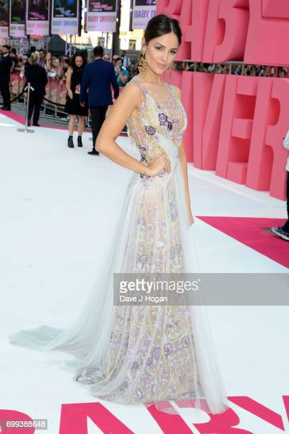 Eiza Gonzalez attends the European Premiere of 'Baby Driver' at Cineworld Leicester Square on June 21 2017 in London England