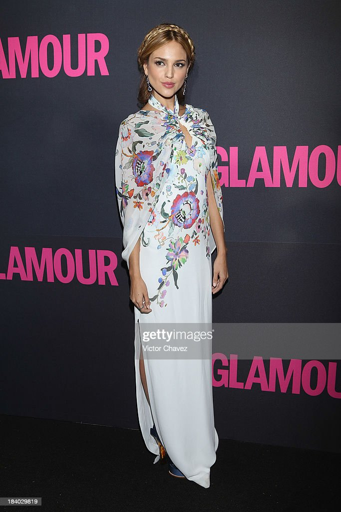 <a gi-track='captionPersonalityLinkClicked' href=/galleries/search?phrase=Eiza+Gonzalez&family=editorial&specificpeople=5540384 ng-click='$event.stopPropagation()'>Eiza Gonzalez</a> attends the Glamour Magazine 15th Anniversary at Casino Del Bosque on October 10, 2013 in Mexico City, Mexico.