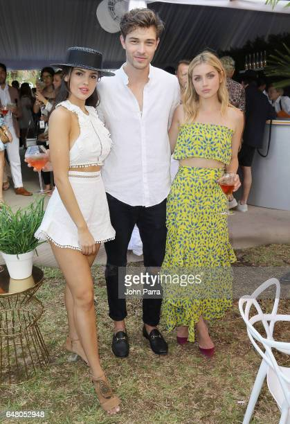 Eiza Gonzalez Francisco Lachowski and Ana De Armas attend the Third Annual Veuve Clicquot Carnaval at Museum Park on March 4 2017 in Miami Florida