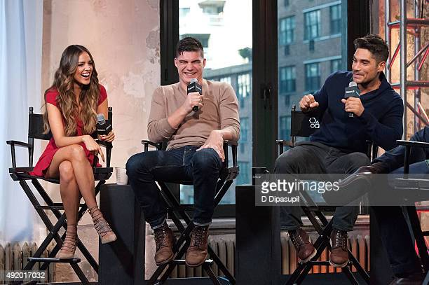 Eiza Gonzalez Zane Holtz and DJ Cotrona attend AOL Build Presents 'From Dusk Til Dawn The Series' at AOL Studios In New York on October 9 2015 in New...