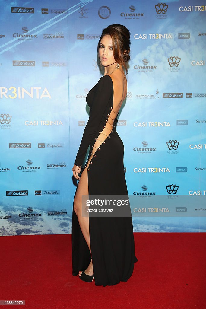 Eiza González attends 'Casi Treinta' Mexico City premiere red carpet at Cinemex Antara Polanco on August 19 2014 in Mexico City Mexico
