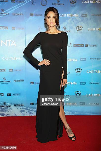 Eiza González attends 'Casi Treinta' Mexico City premiere red carpet at Cinemex Antara Polanco on August 19 2014 in Mexico City Mexico