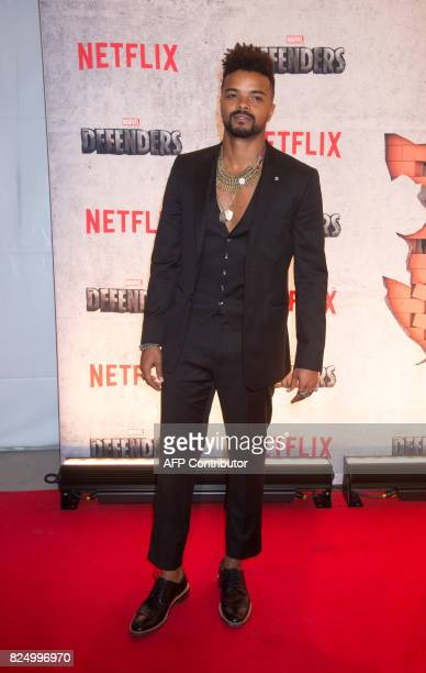 Eka Darville arrives for the Netflix premiere of Marvel's 'The Defenders' on July 31 2017 in New York / AFP PHOTO