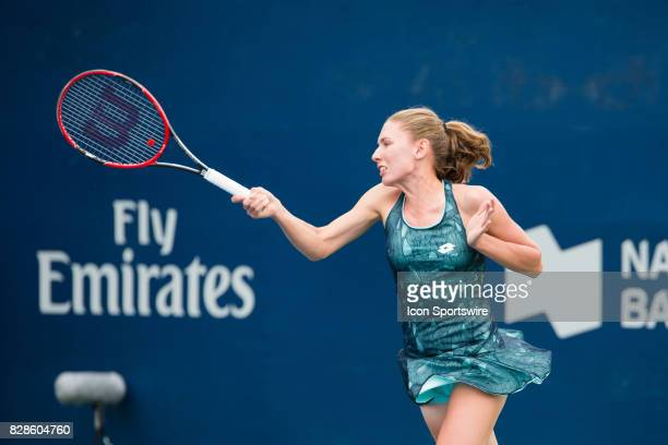 Ekaterina Alexandrova during the first round of the 2017 Rogers Cup tennis tournament on August 7 at Aviva Centre in Toronto ON Canada
