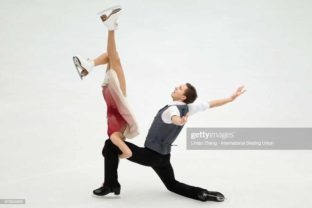 Ekaterina Bobrova and Dmitri Soloviev of Russia compete in the Ice Dance Free Dance on day two of Audi Cup of China ISU Grand Prix of Figure Skating 2017 at Beijing Capital Gymnasium on November 4, 2017 in Beijing, China.