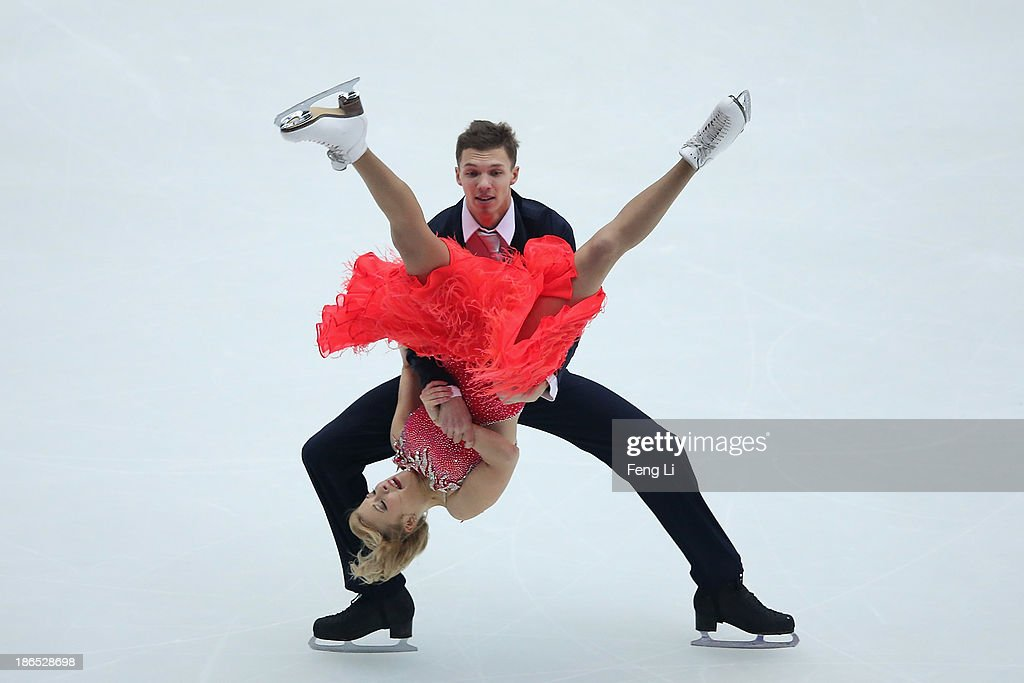 <a gi-track='captionPersonalityLinkClicked' href=/galleries/search?phrase=Ekaterina+Bobrova&family=editorial&specificpeople=4607767 ng-click='$event.stopPropagation()'>Ekaterina Bobrova</a> and <a gi-track='captionPersonalityLinkClicked' href=/galleries/search?phrase=Dmitri+Soloviev&family=editorial&specificpeople=4607766 ng-click='$event.stopPropagation()'>Dmitri Soloviev</a> of Russia skate in the Ice Dancing Short Dance during Lexus Cup of China ISU Grand Prix of Figure Skating 2013 at Beijing Capital Gymnasium on November 1, 2013 in Beijing, China.