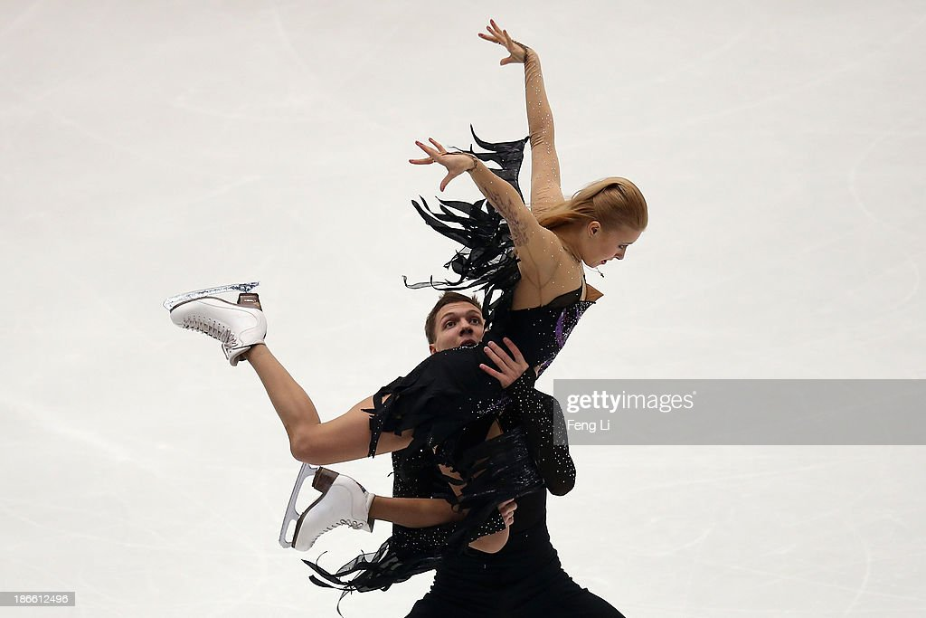 <a gi-track='captionPersonalityLinkClicked' href=/galleries/search?phrase=Ekaterina+Bobrova&family=editorial&specificpeople=4607767 ng-click='$event.stopPropagation()'>Ekaterina Bobrova</a> and <a gi-track='captionPersonalityLinkClicked' href=/galleries/search?phrase=Dmitri+Soloviev&family=editorial&specificpeople=4607766 ng-click='$event.stopPropagation()'>Dmitri Soloviev</a> of Russia skate in the Ice Dance Free Dance during Lexus Cup of China ISU Grand Prix of Figure Skating 2013 at Beijing Capital Gymnasium on November 2, 2013 in Beijing, China.