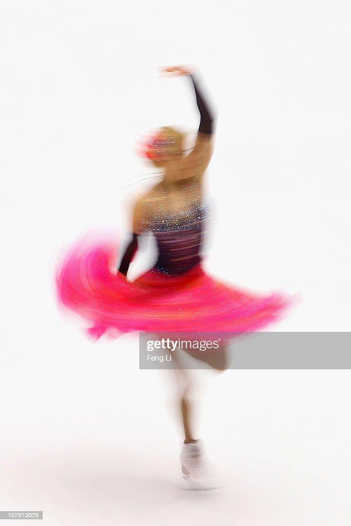Ekaterina Bobrova of Russia skates in the Ice Dance Short Dance during ISU Grand Prix and Junior Grand Prix Final at Beijing Capital Gymnasium on December 10, 2010 in Beijing, China.