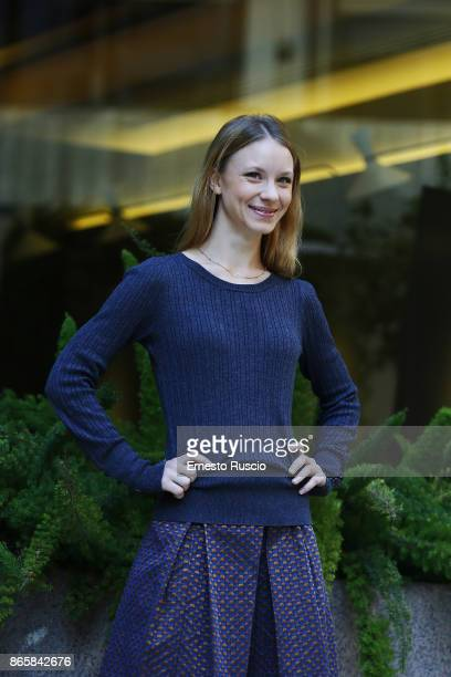 Ekaterina Buscemi attends 'La Ragazza Nella Nebbia' photocall on October 24 2017 in Rome Italy