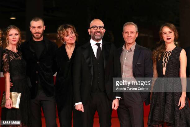Ekaterina Buscemi Lorenzo Richelmy Michela Cescon Donato Carrisi Pietro Faiella and Marina Occhionero walk the red carpet for 'La Ragazza Nella...
