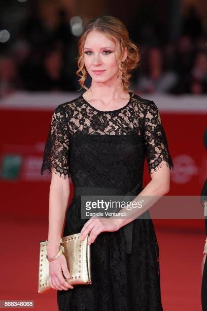 Ekaterina Buscemi walks the red carpet for 'La Ragazza Nella Nebbia' during the 12th Rome Film Fest at Auditorium Parco Della Musica on October 25...