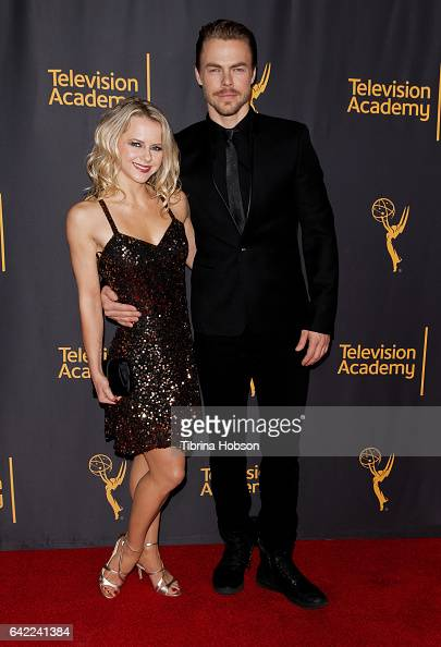 Ekaterina Fedosova and Derek Hough attend Television Academy's 'Whose Dance Is It Anyway' celebration at Saban Media Center on February 16 2017 in...