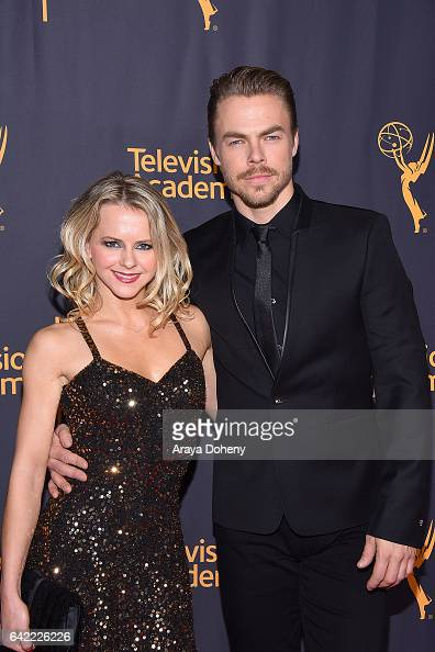 Ekaterina Fedosova and Derek Hough attend the Television Academy's 'Whose Dance Is It Anyway' at Saban Media Center on February 16 2017 in North...