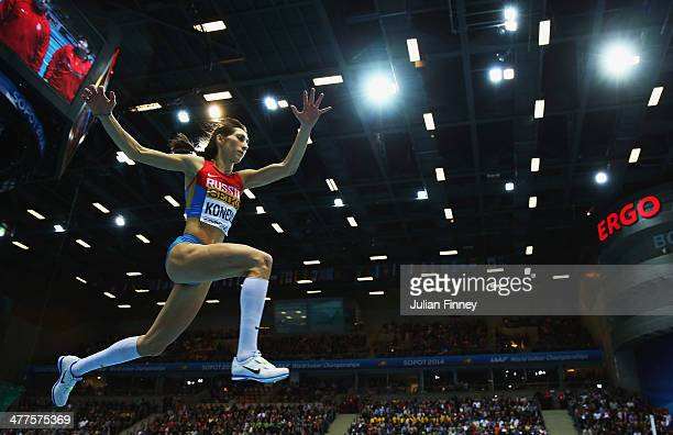 Ekaterina Koneva of Russia competes in the Women's Triple Jump Final during day two of the IAAF World Indoor Championships at Ergo Arena on March 8...