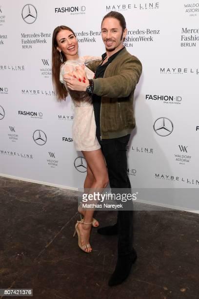 Ekaterina Leonova and Gil Ofarim attend the Ewa Herzog show during the MercedesBenz Fashion Week Berlin Spring/Summer 2018 at Kaufhaus Jandorf on...